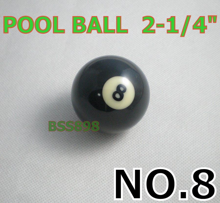 NEW Free shipping 1pcs BLACK NO 8 Pool snooker Billiard table Cue ball  2-1/4