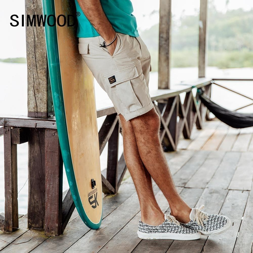 Simwood 2019 Summer New Cargo Shorts Men 100% Color Slim Fit Male Wash Vintage Short Fashion High Quality Hip Hop Clothes 190183 MX190718