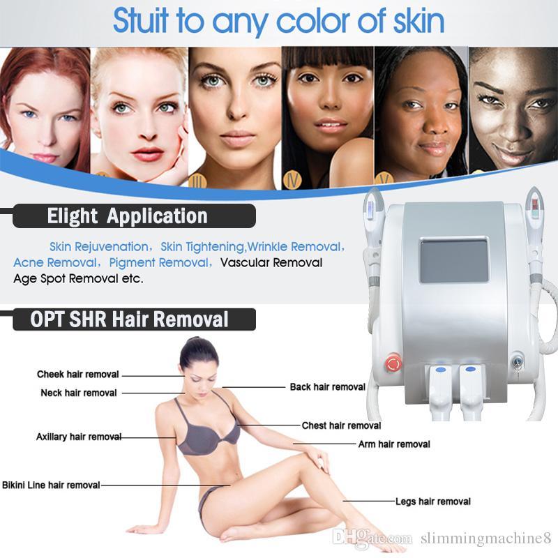 Schönheit Brust Maschinen SHR Haarentfernung Elight IPL + RF SHR IPL Haarentfernung Maschine Elight Hautpflege Verjüngung Bruststraffung