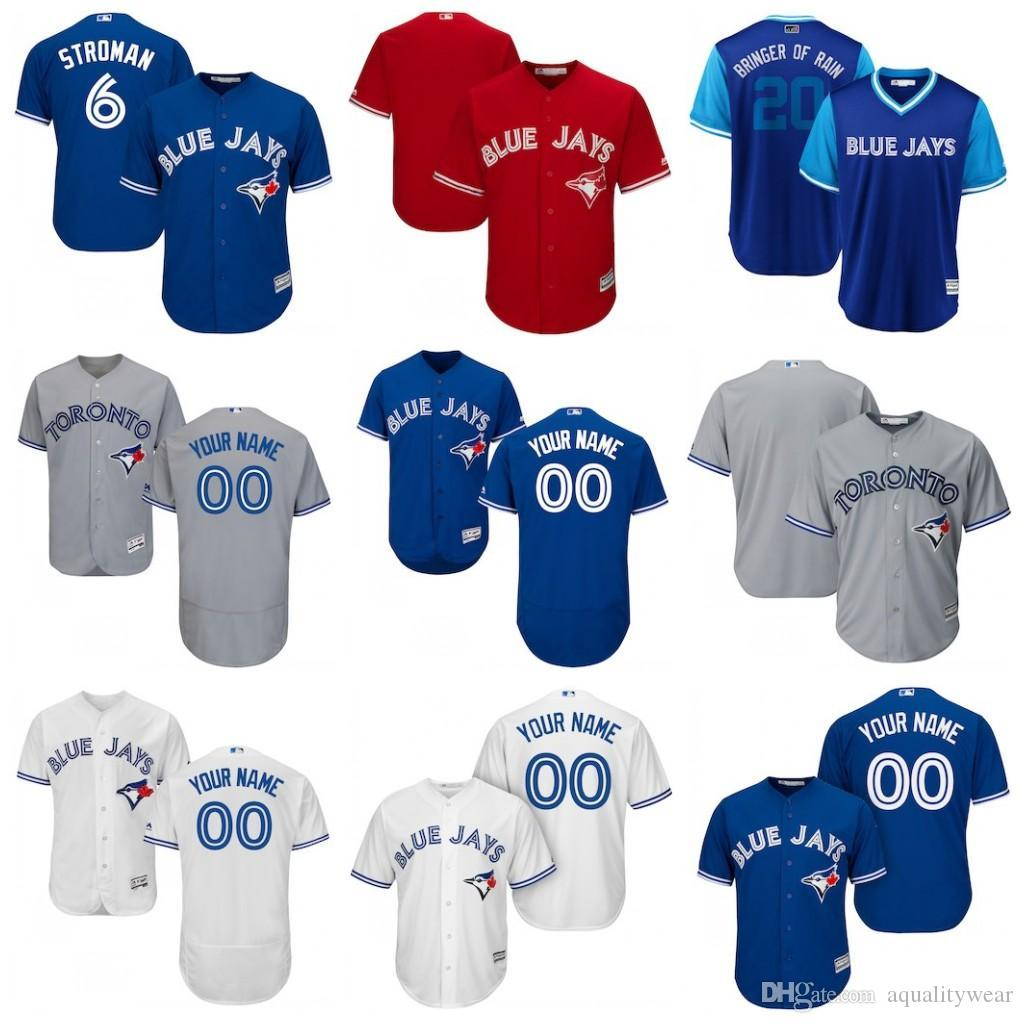 pretty nice d4903 0e2b0 Customized Blue Jays 2019 specially made custom personalized Any name  number baseball Jersey Mens Women Youth KIDS toronto stitched uniform