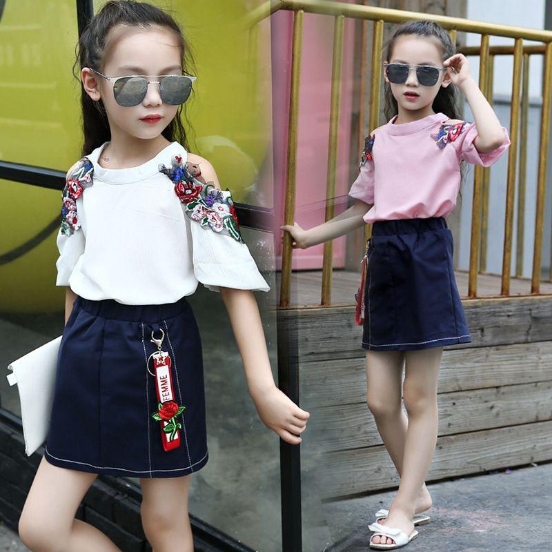 Großhandel Teenager Mädchen Kleidung Sets Sommer Kindermode