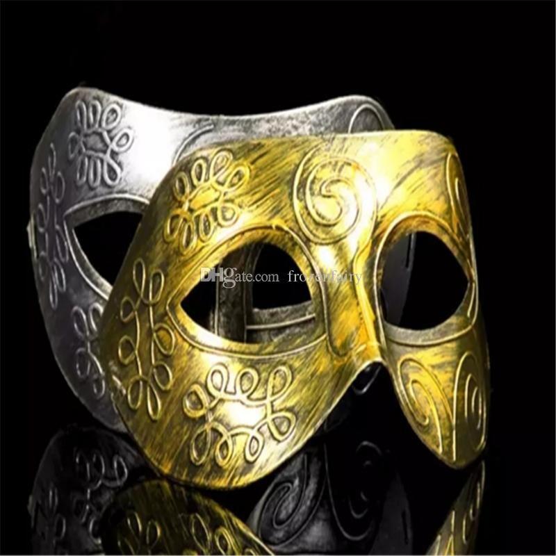 c46d59bca8 Greco-Roman Gladiator Retro Masks for Masquerade Ball Antique Silver Gold  Venetian Mardi Gras Party Ball Mask 10Pcs/Lot bb291-294 2018010911