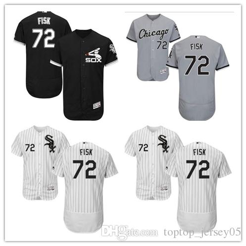 sports shoes 14c07 9b960 2018 Chicago White Sox Jerseys #72 Carlton Fisk Jerseys men#WOMEN#YOUTH#Men  s Baseball Jersey Majestic Stitched Professional sportswear