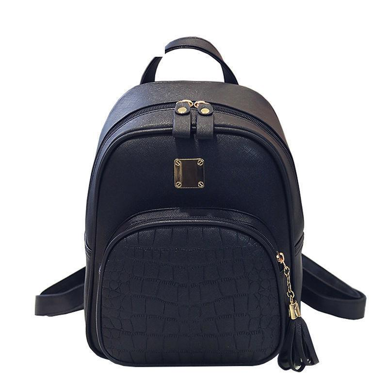 e43cede103d0 good quality Women Backpacks Fashion Pu Leather Shoulder Bag Stone Feet  Pattern Small Backpack Embossed School Bags For Girl
