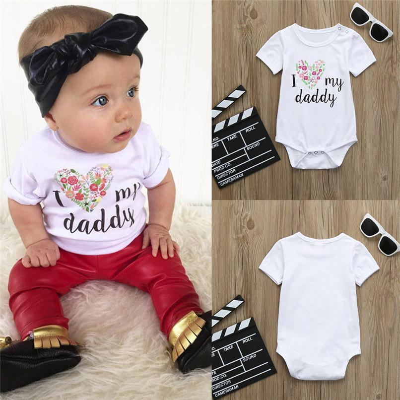3a79152cf Summer Babys Clothes Baby Girl Romper Cute Toddler Infant Baby Boy ...