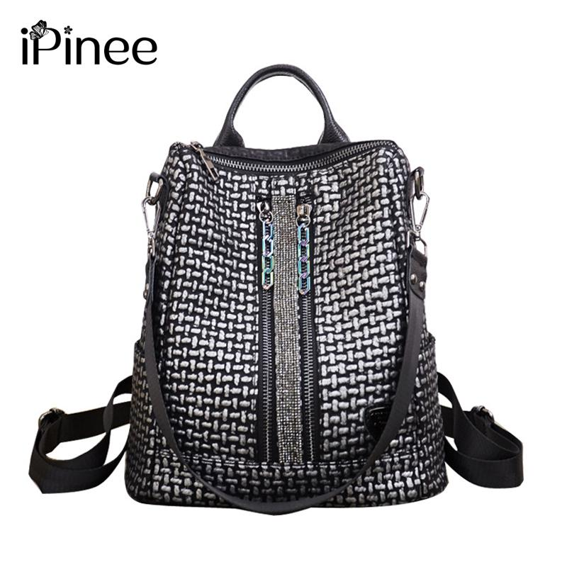 Lovely Ipinee Large/small Size Female Tote Bag Famous Designer Women Handbags Genuine Leather Free Shipping Luggage & Bags