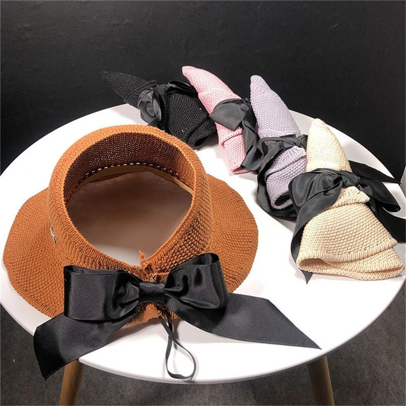 5a5f9ac686e Womens Floppy Bow Summer Sun Beach Straw Hat Foldable Wide Brim  A Fedoras  Cheap Fedoras Womens Floppy Bow Summer Sun Beach Straw Online with   47.33 Piece ...