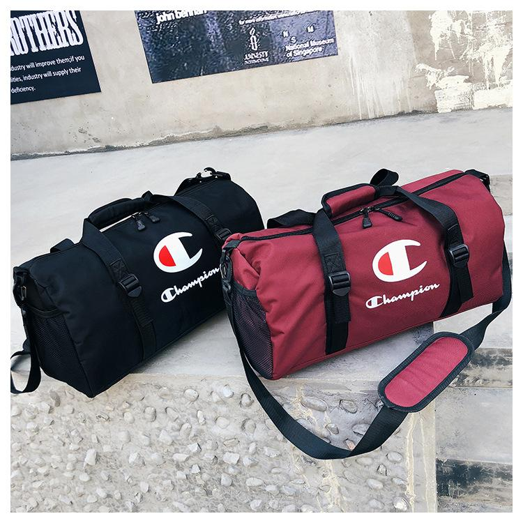 9123635b2eb9 Champions Travel Bag Sports Duffle Gym Yoga Fitness Luggage Large Capacity  Waterproof Tote Handbag Letter Shoulder Bag B3121