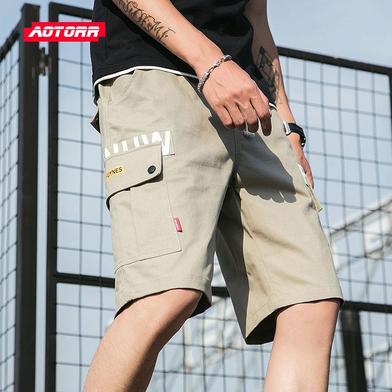 New Steetsweat Cargo Men Shorts Summer 2019 Cotton Shorts Men Hip Hop Harajuku Casual Short Male Pockets Patchwork Joggers Short