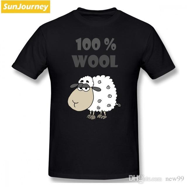 Animados Divertido Algodón Lana Oversize Camisetas Para Dibujos Diseñador Hombres Camiseta Geek Hombre Ovejas Gota Envío De 2019 100 La xoEQCedBrW