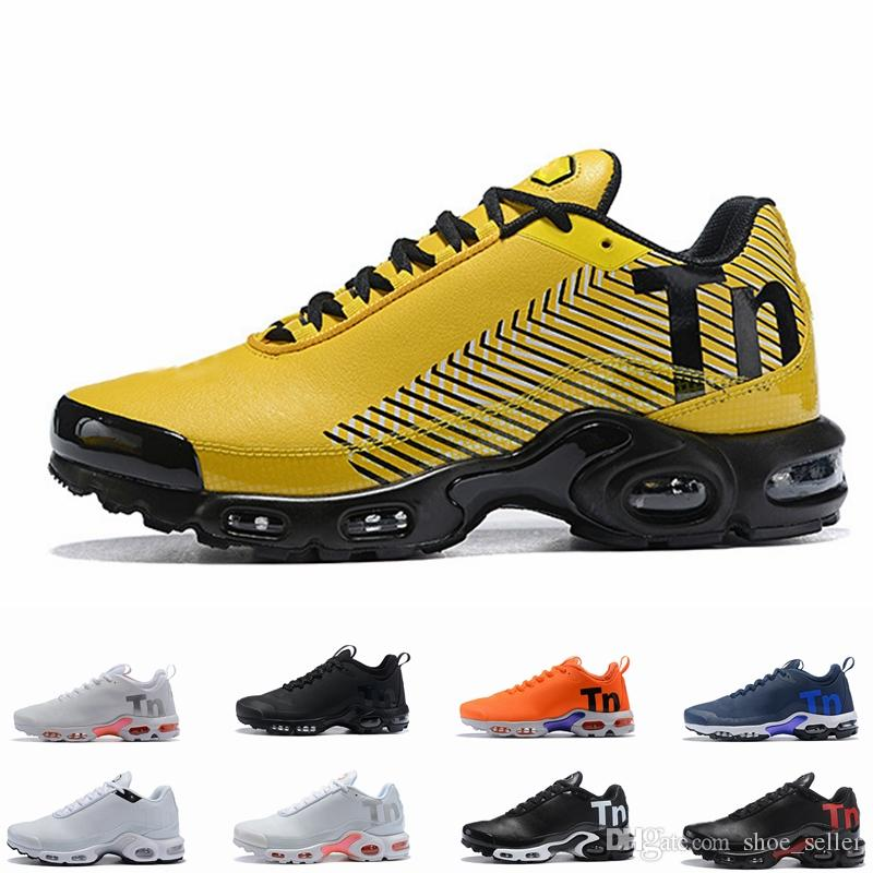 competitive price 6cca2 d4019 2019 Cheap tns plus Mens Womens Shoes Rainbow Green TN Ultra Sports Requin  Sneakers Caushion Running shoes Chausseures 36-46