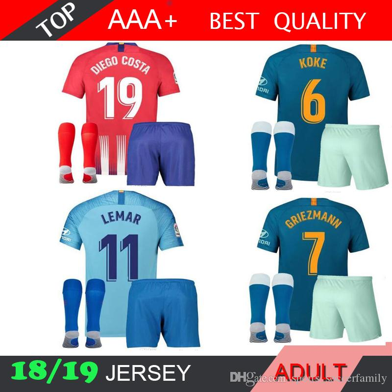 82215421 2018 Adult Lit Jersey 18 19 Home Black Away White Top Quality
