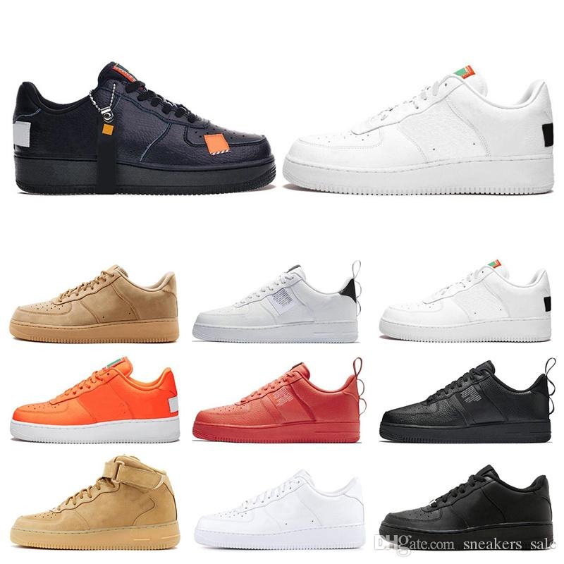 nike air force one 1 Barato 1 Utilidad Triple Negro Blanco Dunk Hombres Mujeres Zapatillas Deportivas Skateboard High Low Cut Wheat Entrenadores