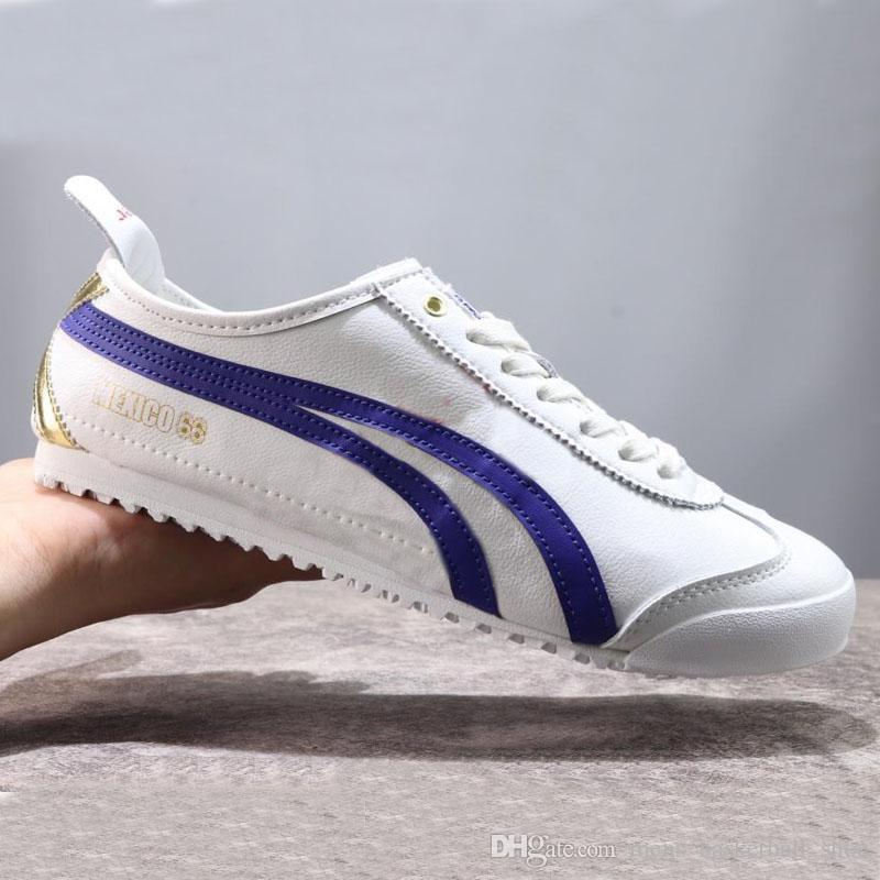 outlet store c0e92 1b705 2019 Onitsuka Tiger Designer Shoes Sneakers Running Stripes For Women Men  Outdoor Trainers Black White Shoe