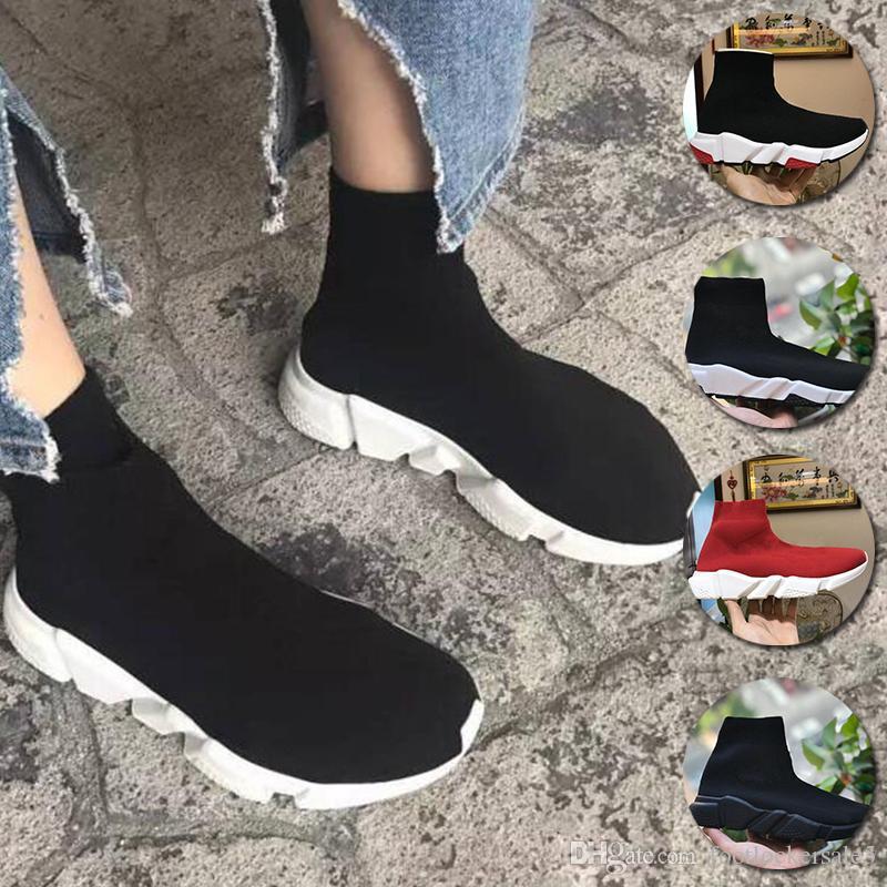 reputable site e29d1 759bf Balenciaga Zapatos De Calcetines De Diseñador Original Entrenador De  Velocidad Para Hombres Y Mujeres Zapatos Para Correr Entrenadores De  Velocidad ...