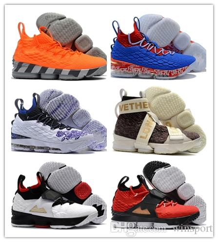 cheap for discount 500e3 e8c50 Hot Sale Lebron James XV 15 Low Star Wolf Grey Pink Home Mens Basketball  shoes Kids Shoes Sports quality Cheap 15s Zapatilla Sneakers