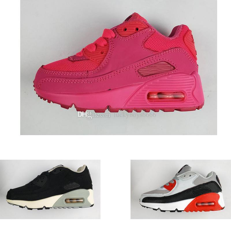 new style 8816e 6f099 Compre Nike Air Max 90 Diseñador De Marca Para Niños Zapatos Para Bebés Y  Niños Pequeños Zapatillas Deportivas 90 Zapatillas De Correr Niños Niños  Chicas ...
