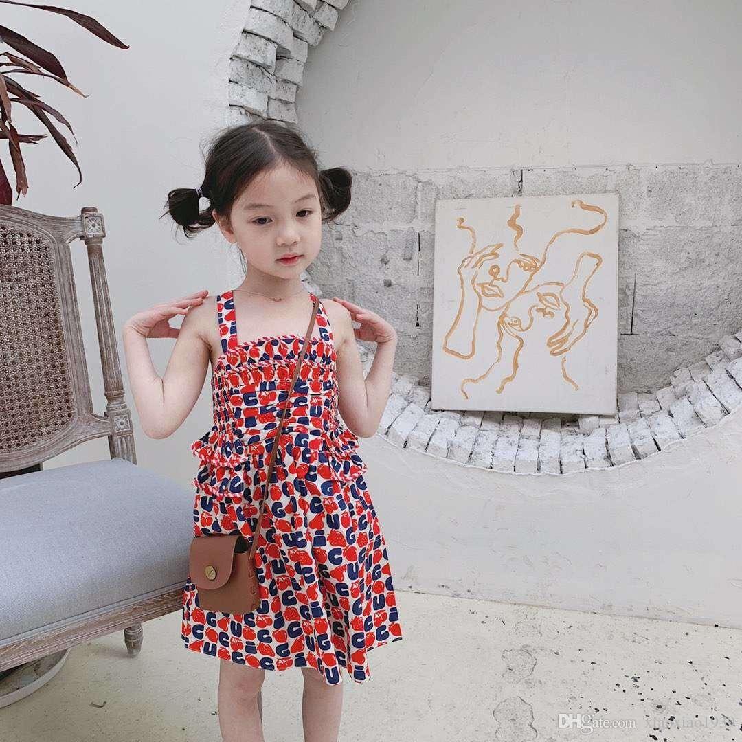 da338f1341f02 2019 New Girls Summer party Dress Kids beach dress vest Maxi skirt free  shipping