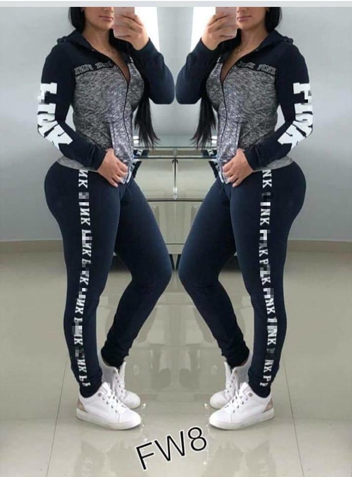 ad3e6dab572b6d Acquista Tuta Sportiva Da Donna Rosa Taglie Forti Abbigliamento Sportivo  Felpe Con Cappuccio Da Donna Pantaloni Lunghi Pantaloni 2 Pezzi Completi  Vestito ...