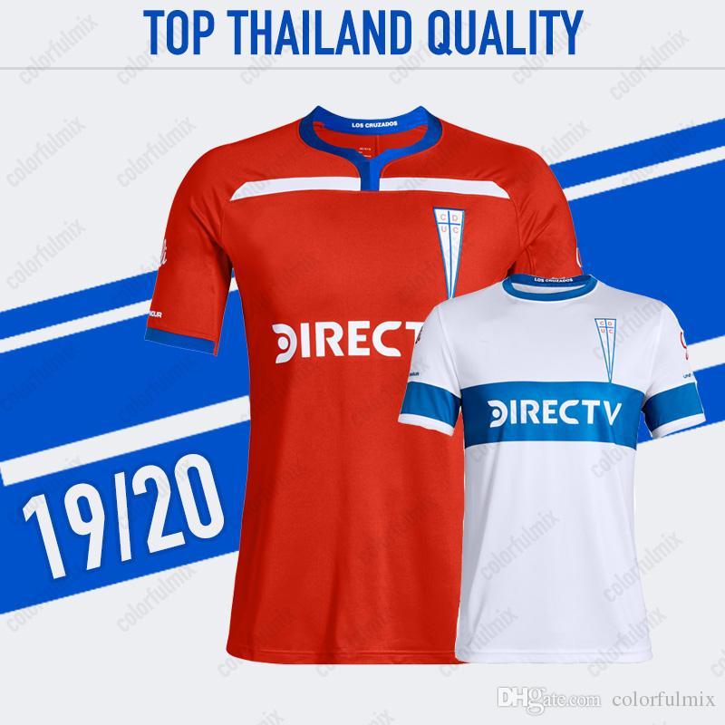 8f6dbb36a ... Soccer Jerseys Home Red Away White 2019 Universidad Catolica Football  Jerseys Soccer Shirt Adult Football Uniform From Colorfulmix