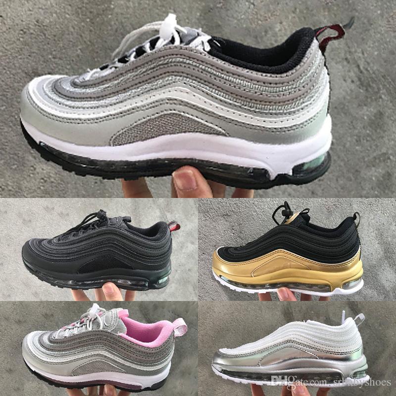 Nike air max 97 Caliente niño niña niño niños juveniles niños entrenadores zapatillas zapatillas deportivas de deporte de 1