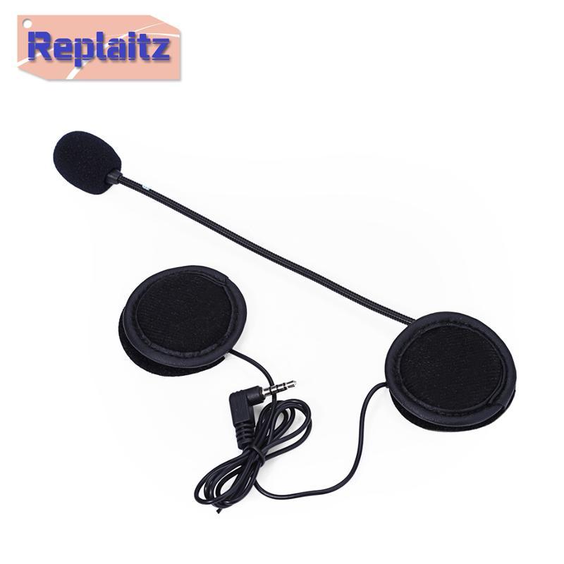 Universal Motorcycle Helmet Headset Interphone Microphone Speaker Motorbike  Helmet Accessories 3 5mm Intercom Earphone with Mic