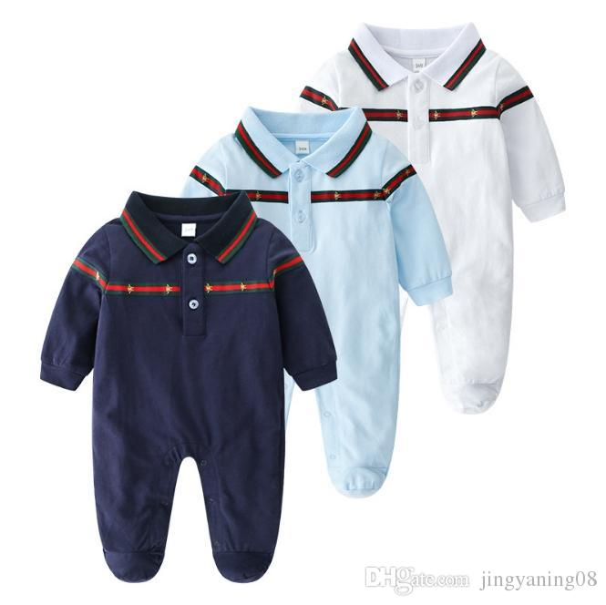 bbce50fb1023 2019 Retail Baby Clothing 2018 New Newborn Jumpsuits Cotton Lapels Romper  Baby Clothes Long Sleeve Infant Product From Jingyaning08
