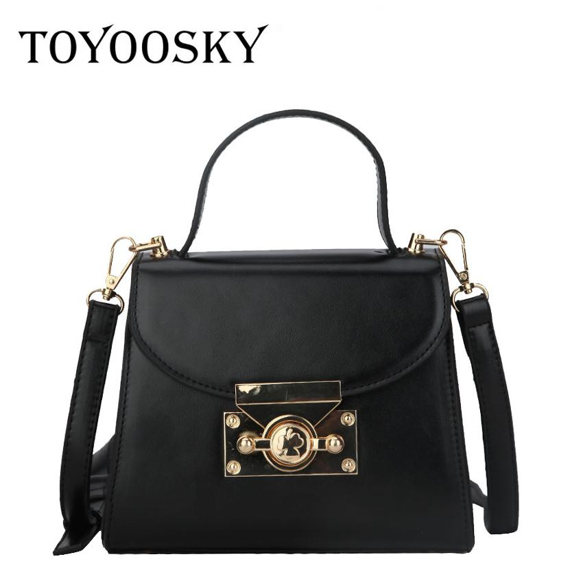 a714649eda04 TOYOOSKY New Arrival Fashion Luxury Women Handbag PU Leather Shoulder Bags  Lady Solid Crossbody Hand Bag Sac A Main Femme