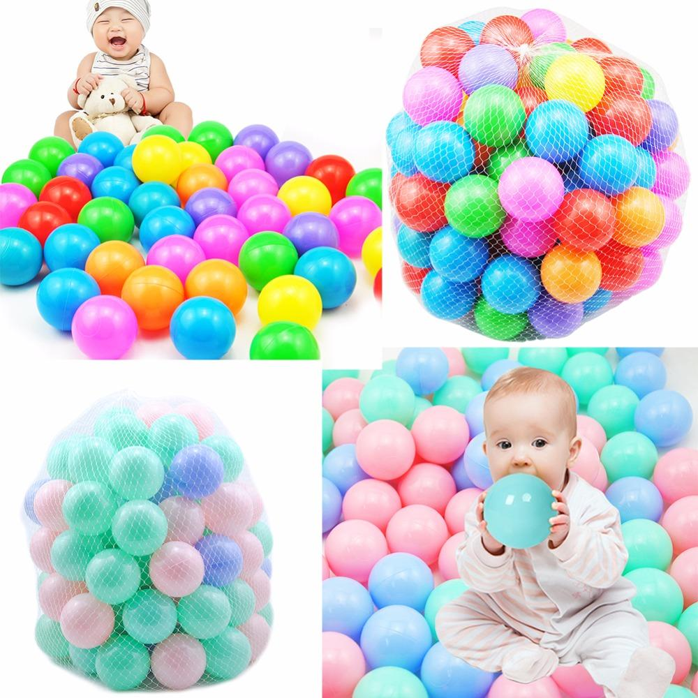 100pcs Eco-Friendly Soft Ocean Ball for Baby Play Bath Toys for Children Kid Water Pool Ball Stress Air Ball Outdoor Fun Toys
