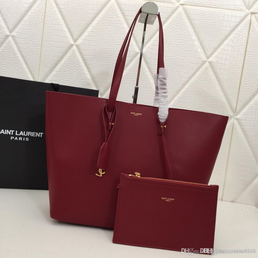 ac56423c1a New High End Trend Large Capacity Shopping Bag Leather Tote Bag Black Gray  Wine Red Mother And Child Designer Bag Number: 1860. Designer Purses  Satchel Bags ...