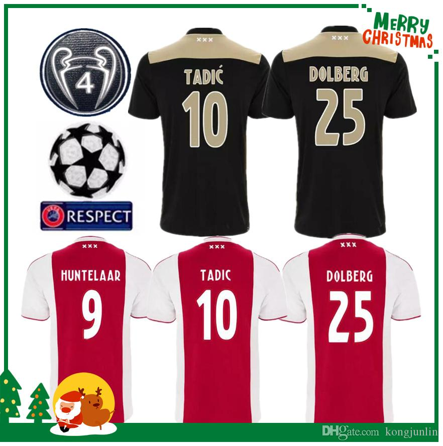 1703cd7d3 2019 Ajax Home Red White Soccer Jersey 18 19 Ajax Away Soccer Shirt 2018  2019 Customized  10 KLAASSEN NOURI Football Netherlands Club Uniform From  ...