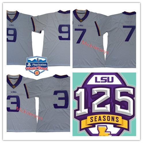 premium selection 35961 45545 Mens NCAA LSU Tigers Odell Beckham Jr Football Jersey Patrick Peterson  Tryann Mathieu Joe Burrow LSU Tigers 1918 Silent Season honor Jersy