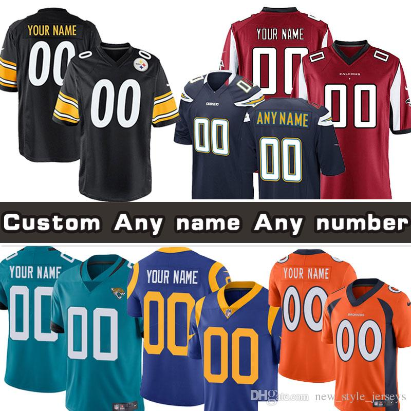 437e90e9 Custom Pittsburgh Jersey Steelers Chargers Rams Los Angeles Falcons ...
