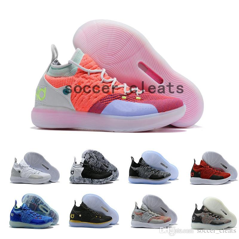 6245987cc9b 2019 2019 New KD 11 Mens Basketball Shoes Black Grey Persian Violet  Chlorine Blue Sneakers Kevin Durant 11s Trainers Chaussures De Basket Ball  From ...