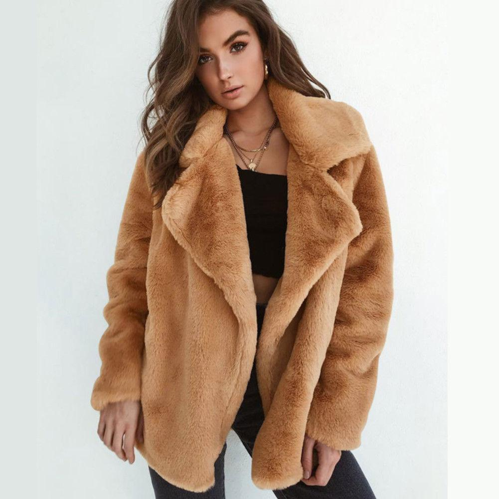 0be6959d21f Women Winter Warm Coat Outwear Ladies Teddy Bear Fluffy Long Sleeve Coat  Tops New Fashion Women Overcoat Brown Leather Bomber Jacket Leather Bomber  From ...