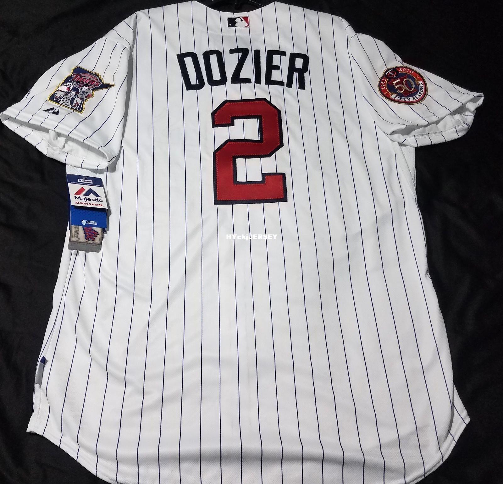 online store 4f3dd 9b176 Cheap! Majestic MINNESOTA #2 BRIAN DOZIER ON FIELD Jersey Mens Stitched  Wholesale Big And Tall SIZE XS-6XL baseball jerseys