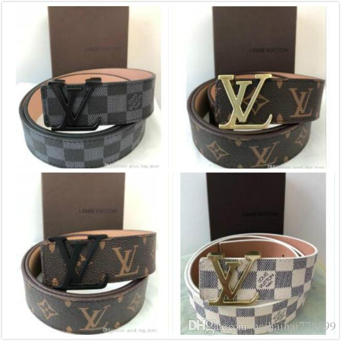 93291a1d4bb3 Have Box LOUIS VUITTON Designer Belts Luxury Belts For Men Big Buckle Belt  Top Fashion Mens Leather Belts Wholesale LV Sweat Belt Silver Belt From ...
