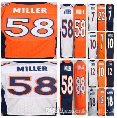 4e3996af3 Denver Broncos Jerseys 18 Peyton Manning 58 Von Miller 10 Emmanuel ...