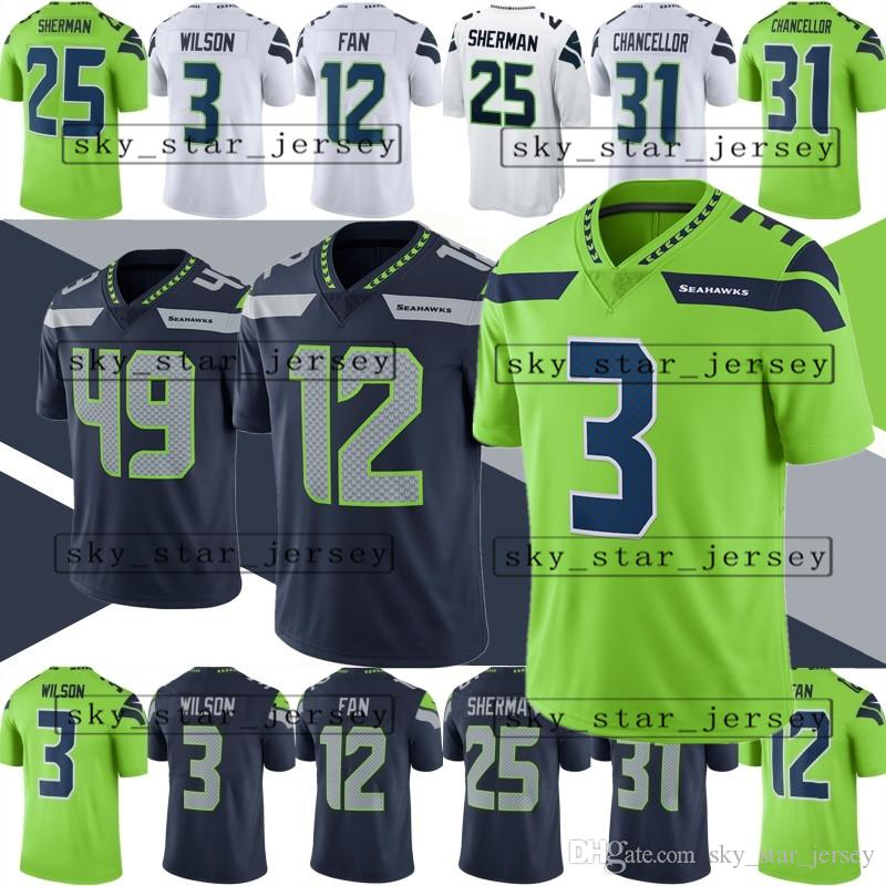 info for 405e6 c73c1 Mens Seattle Seahawks jerseys 3 Russell Wilson jersey 49 Shaquem Griffin  jersey 22 Doug Martin 20 Rashaad Penny all stitched jerseys