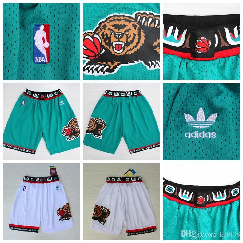 newest collection ad908 cecde Men's Memphis Basketball Grizzlies Retro Shorts Mike Conley Jaren Jackson  Jr. Breathable Sweatpants Team Classic Sportswear Wear Shorts