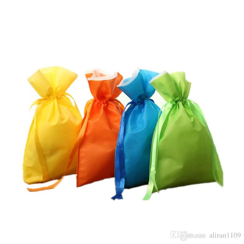 52x26 40x26 32x21mm Drawstring Gifts Bags Wedding Christmas Party Favors Packaging Sack Jewelry Pouches Non-woven Fabrics Bag