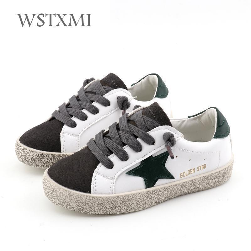a19a292c179a Children Shoes Sneakers For Boys Flat Girls White Shoes Kids Sports Baby  Shoes Fashion Breathable Light Pu Leather Spring Autumn Toddler Tennis Shoes  Sports ...