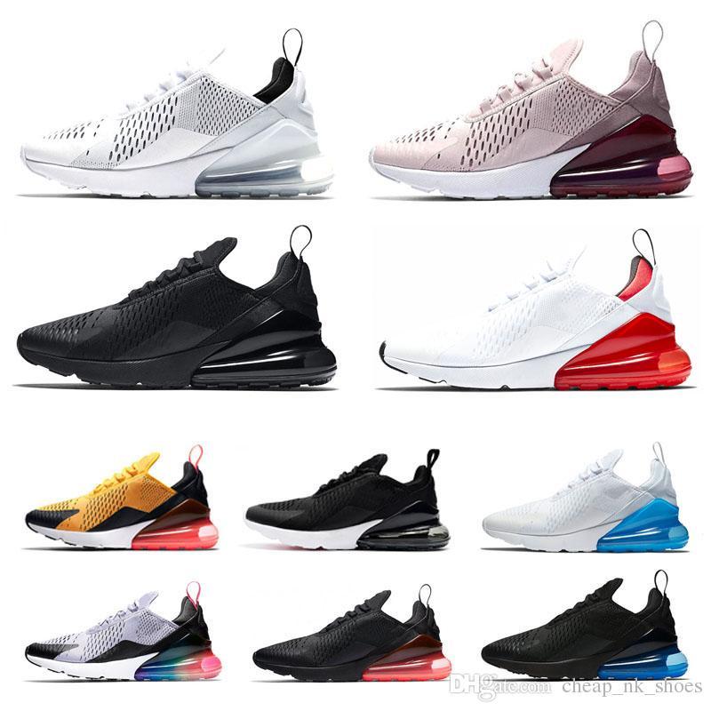 Acquista Nike Air Max Airmax 270 270s Uomini Donne Scarpe Da Corsa Triple  Bianco Nero Totale Arancione Essere Veri Uomini Trainer Sport Sneaker  Jogging ... 89a55f5d724