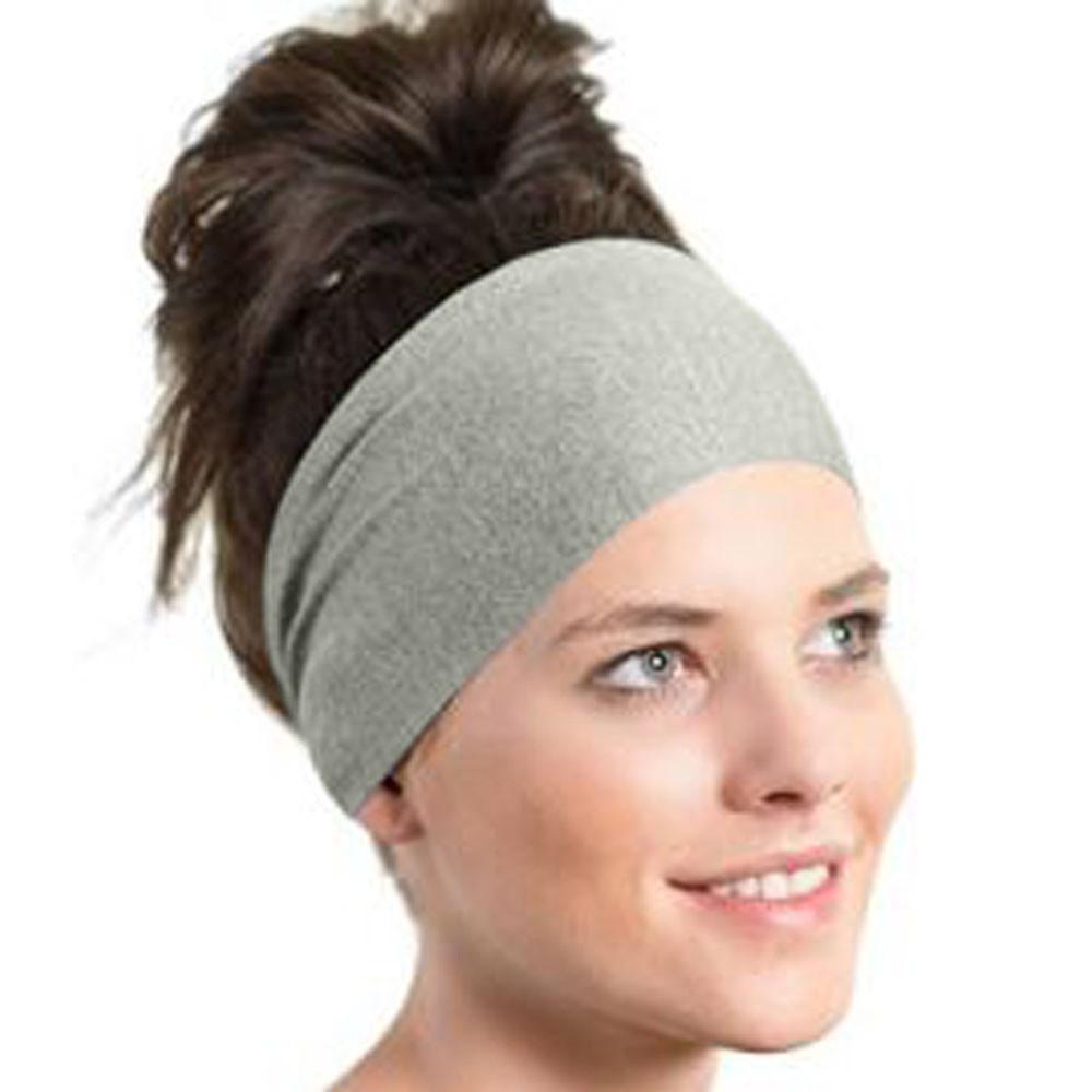 f46b55f62256 All Season Black Blue Gray Sports Headbands Women Yoga Sweatband Gym  Stretch Headband Hair Band 2018 Stirnschweissband Feather Hair Accessories  Prom Hair ...