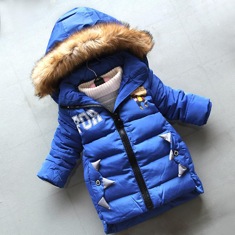 good qulaity children coats winter 2019 fashion boys jackets cotton warm thick long sleeve outerwear for bebe cartoon down parkas