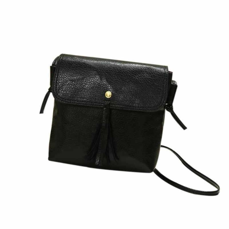 aaa15f646d9b Cheap Fashion Women Tassels Leather Handbag High Quality Ladies Cross Body  Shoulder Messenger Bag Phone Bag Bolsos Mujer DropShipping Handbags  Wholesale ...