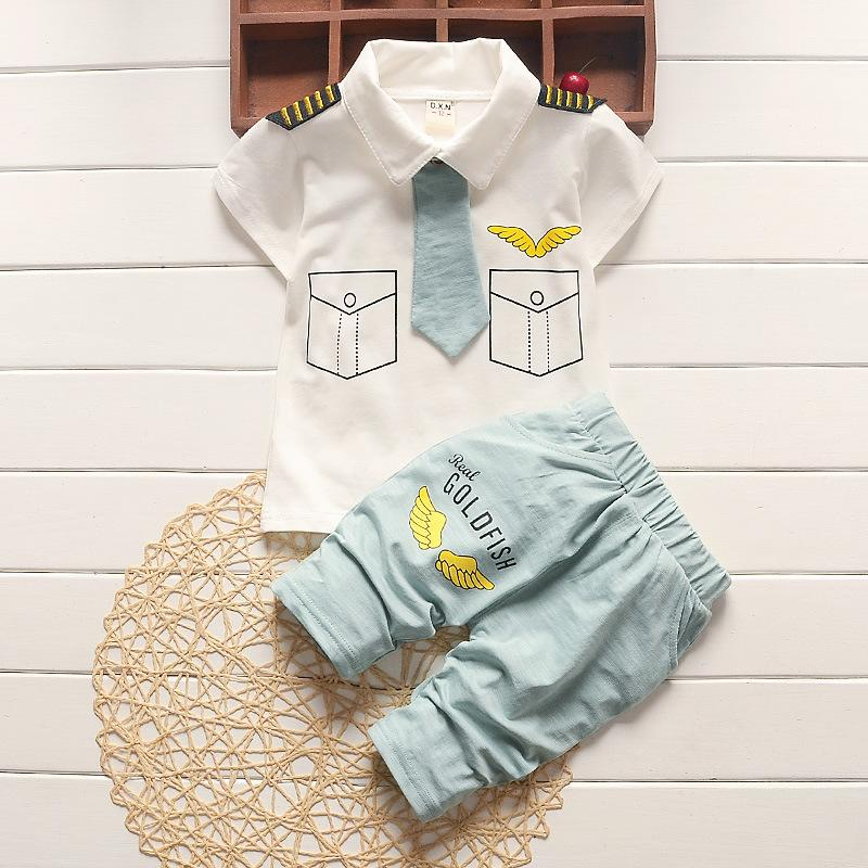cea0597c66c 2019 Good Quality Summer Baby Boy Clothing Sets Toddler Boys Pilot Outfits  T Shirt+Pants Clothes Suit For Kids Boys Tracksuit Infant Suit From  Yosicil08
