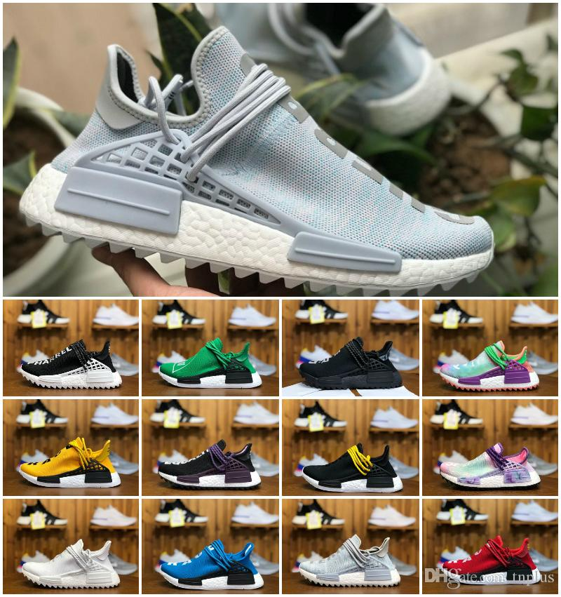 Hot Sell 2019 Human Race Pharrell Williams X BBC Yellow Black Nerd Sports Shoes Designer PW Human Race Runner Boost Men Shoes Women sneakers