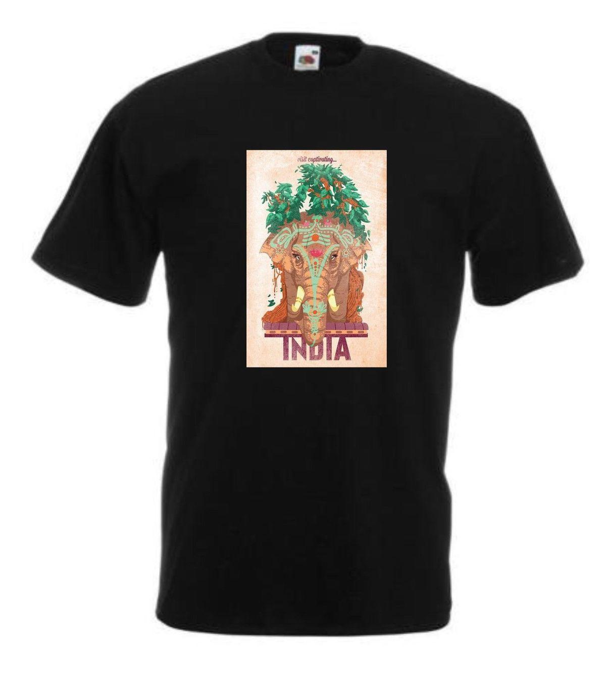 VINTAGE TRAVEL India T-shirt-impressions rétro-Home-Holiday