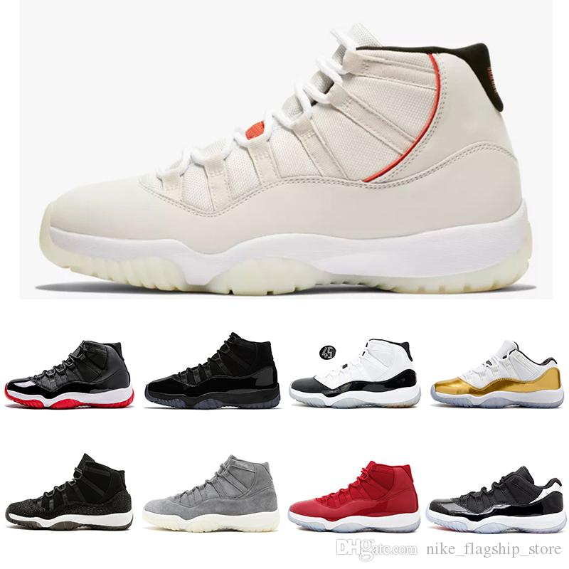 Newest Platinum Tint XI 11s Concord 45 Prom Night Basketball Shoes 11 Gym  Red Cap And Gown Heiress Bred Women Men Sports Sneakers Kevin Durant  Basketball ... ec95c0953df7